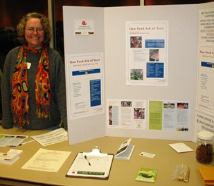 Slow Food Utah table at 2010 Seed Swap